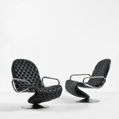 351: Verner Panton / 1-2-3 System lounge chairs model E, pair < Scandinavian Design, 12 May 2011 < Auctions | Wright