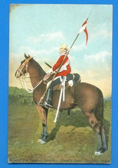 TROOPER 2nd DRAGOON GUARDS (QUEENS BAYS).POSTCARD POSTED 1905