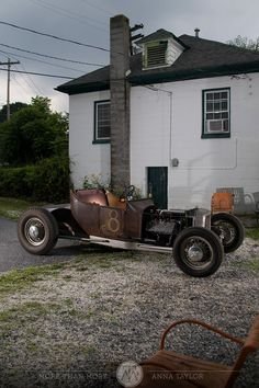 Rat rod  FLATHEAD  #8 (poorly placed for photo--that chimney is going to drive me nuts!) - LGMSports.com