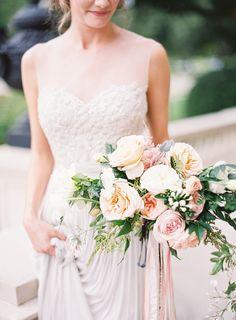 blush rose wedding bouquets