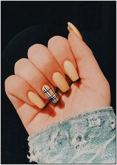 48 Pretty Acrylic Coffin Nails Design You Need To Try 48 Pretty Acrylic Coffin Nails Design You Need To Try,Nageldesign❤️❤️ Related Fabulous Coffin Nail Designs z. Acrylic Nails Coffin Short, Simple Acrylic Nails, Best Acrylic Nails, Pastel Nails, Acrylic Nails Yellow, Yellow Nails, Burberry Nails, Cute Acrylic Nail Designs, Pretty Nail Designs