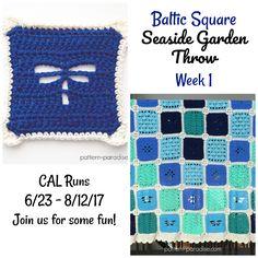 The Seaside Garden Throw Blanket pattern on pattern-paradise.com #crochet #patternparadisecrochet #blanket #throw #CAL #seasidegardenthrow #redheartyarns