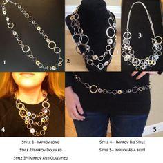 5 ways to wear Lia Sophia's Improv Necklace