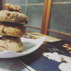 Walnut cookies. Plus my obsession with collecting free postcards.