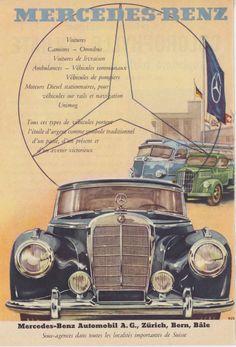 Mercedes Benz 1953,publicité originale Suisse.