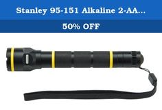 Stanley 95-151 Alkaline 2-AA Battery Aluminum Flashlight. 680-95-151 Features: -Specially designed reflector provides a strong focused beam. -Shatter resistant lens. -Hi-visibility yellow bands. -Weather resistant. Product Type: -Handheld. Use: -General Purpose/High Performance. Bulb Type: -LED. Power Source: -AA Batteries. Generic Specifications: -Watts: 3.00 W. Dimensions: Overall Length - End to End: -8.6 Inches. Overall Width - Side to Side: -4.7 Inches. Overall Depth - Front to Back:...