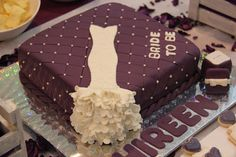 Bridal Shower Purple Dress Cake
