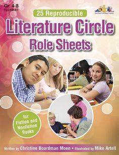 25 Reproducible Literature: Circle Role Sheets for Fiction and Nonfiction Books - Literature circles are student-centered book discussion groups in which each student has a role for which he or she is responsible. Literature circles accomodate a wide variety of reading levels and allow for differentiated instruction. In addition to promoting reading, writing and listening... - http://buytrusts.com/giftsets/2015/09/29/25-reproducible-literature-circle-role-sheets-for-fiction-a