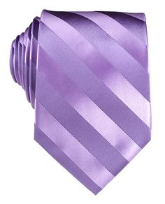 Satin Diagonal Stripes Purple Tie with Pocket Square