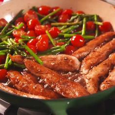 One-Pan Balsamic Chicken and Asparagus - Recipe Mom Tasty Videos, Food Videos, Cooking Videos, Balsamic Chicken, Balsamic Vinegar, Cooking Recipes, Healthy Recipes, Cooking Tv, Vegetarian Recipes
