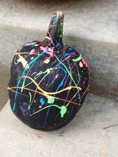 Splatter painted pumpkins 2013