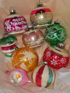 vintage christmas ornaments just beautiful