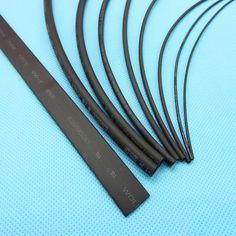 1meter/lot Heat Shrink Tubing Tube Black Color 0.6mm 0.8mm 1mm 1.5mm 2mm 3mm 4mm 5mm 8mm