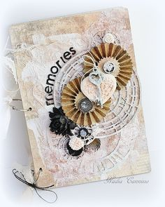 Nadia Cannizzo: Altered notebook for Riddersholm Designs!