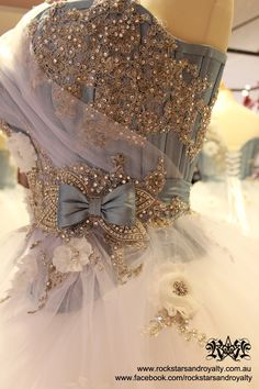 Details of the blue gown by Rockstars and Royalty