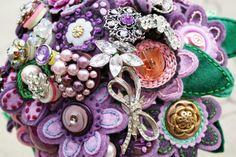Vintage Felt Brooche Bouquet