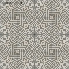 Cement Tile Shop - baldosas hidráulicas Encaustic Cement Tile | Fountaine Antique http://www.cementtileshop.com/in-stock-encaustic-cement-tile/FountaineAntique.html