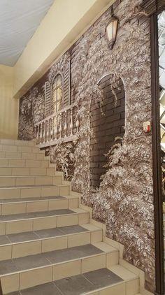 Наталія Лотоцька - Photos   OK Plaster Art, Plaster Walls, Mural Art, Wall Murals, Wall Art, 3d Home, Home Art, Cement Art, 3d Wall Decor