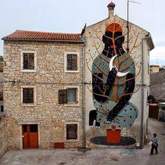 "by Agostino Iacurci - New mural: ""Chameleon"" - For the Boombarstick Festival in Vodnjan, Croatia - 26.07.2014"