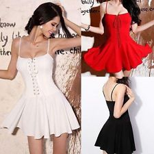 Women's Sexy Summer Casual Sleeveless Party Evening Cocktail Short Mini Dress