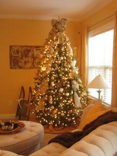 country christmas tree burlap mesh - Google Search