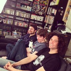 """Barry (far left), Ross (middle), Danny (far right). Cute smile Danny! <3 