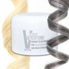 oVertone Vibrant Silver Go Deep Weekly Treatment is an intensely hydrating, color depositing conditioner that can add bold color to your hair and keep your color looking salon fresh.