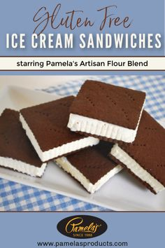 TRADITIONAL ICE CREAM SANDWICHES RECIPE You'll fall in love with this gluten free take on a childhood favorite! Homemade chocolate cookies (gluten free, of course) and your favorite vanilla ice cream make for a completely irresistible summer dessert! Best Gluten Free Desserts, Gluten Free Cookies, Just Desserts, Ice Cream Cookie Sandwich, Ice Cream Cookies, Gluten Free Ice Cream Sandwiches, Homemade Chocolate, Chocolate Recipes, Chocolate Cookies
