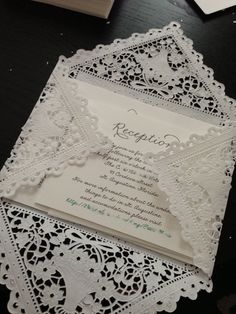 Wedding Invitations Lace Diy Paper Doilies New Ideas Trendy Wedding, Diy Wedding, Dream Wedding, Wedding Day, Wedding Invitation Envelopes, Diy Invitations, Invitation Ideas, Do It Yourself Wedding, Paper Doilies