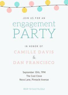 Wedding Engagement Party Invitation (Portrait)
