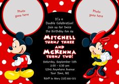 birthday invite for combined sibling party