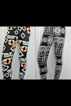 Battle of the leggings <3 check out these styles and more at http://www.mybuskins.com/#HannahGarza2013