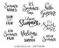 Healthy meals to lose weight delivered to your door for a room ideas Summer Calligraphy, Summer Typography, Home Quotes And Sayings, Sign Quotes, Sign Sayings, Brush Lettering, Hand Lettering, Summer Quotes Summertime, Summer Phrases