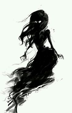 Beautiful Black, shadow, lady, thing.