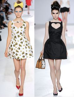 Heart cut-out dresses