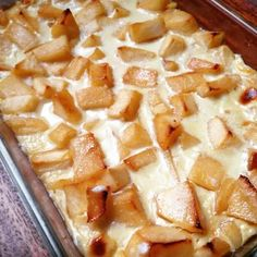 Un gratin de pommes caramélisées super rapide et facile à faire.