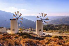 ***Windmills on the mountains (Lassithi, Crete, Greece) by Joe Daniel Price