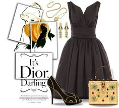 "charming life pattern: ""Love Dior"" by gardenrosesgraphics on Polyvore #st..."