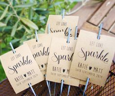 10 x Sparkler covers / Ideal Wedding favours / Personalised Vintage/Shabby Chic