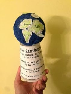teaching continents and oceans project with a freebie