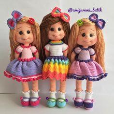 kızlarım çoktan yeni yuvalarına uçtular sağolsun Dilek … Happy days ım Thanks to my daughters who have already flown to their new homes Ms. Crochet Dollies, Crochet Teddy, Crochet Bunny, Cute Crochet, Crochet Hats, Crochet Dolls Free Patterns, Crochet Doll Pattern, Doll Patterns, Soft Dolls