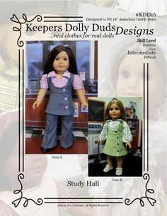 PDF Pattern KDD16 Study Hall An Original by KeepersDollyDuds