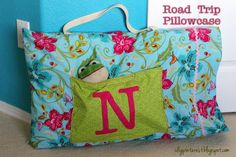 DIY Road Trip Pillowcase