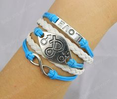 jewelry Charm Bracelet  Infinity braceletinfinity by Colorbody, $6.29