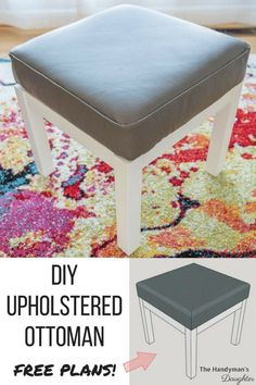 18 best diy ottoman ideas images on pinterest benches diy room diy ottoman makeover woodworking plans solutioingenieria Choice Image
