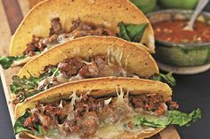 Find the recipe for Beef and Kale Tacos and other beef recipes at Epicurious.com