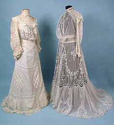 Two Lace & Net Tea Gowns, c. 1905<br /> March 25, 2004 - Session 2 - Lot 327 - $500