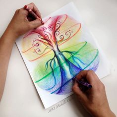 Infinity Tree 8 x10 Original art unframed in a by MichelleCuriel