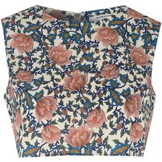 Glamorous Petite Cream Floral Print Crop Top (€2,27) ❤ liked on Polyvore featuring tops, shirts, crop top, orange, orange sleeveless top, shirt crop top, petite sleeveless tops, floral shirt and sleeveless crop top