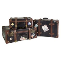 Labeled Suitcases - Set of 3 | from hayneedle.com